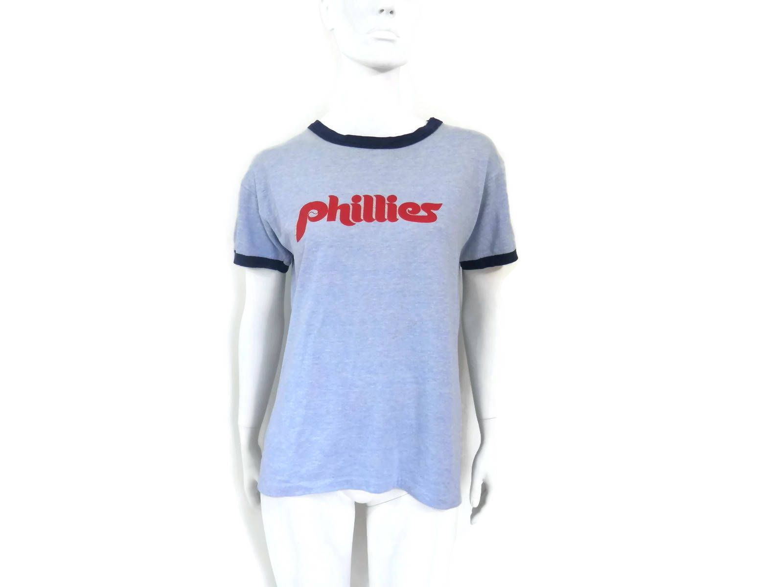 Vintage Phillies Tee Shirt 1980's Old School Sports
