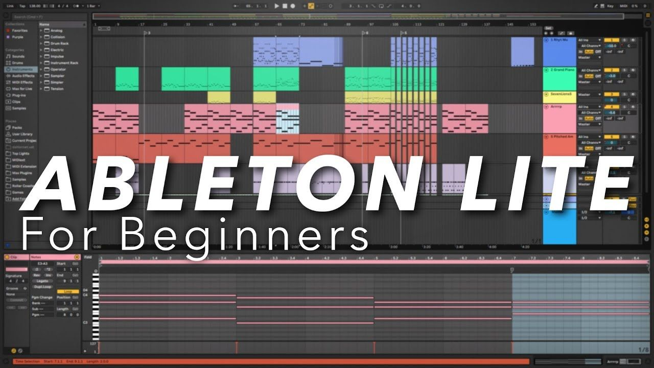 Ableton Live Lite for Beginners (How to make music with
