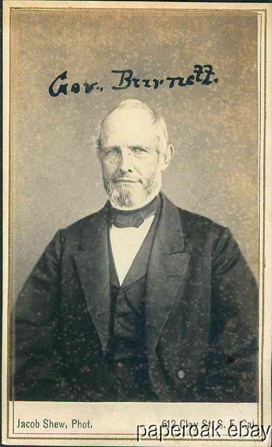 Governor Burnett Of California 1860s Carte De Visite Photo By Jacob Shew