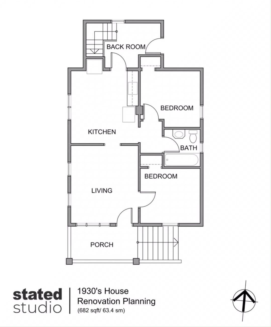 1930s House Reno Plan Home Design Floor Plans Garage House Plans Architectural Floor Plans