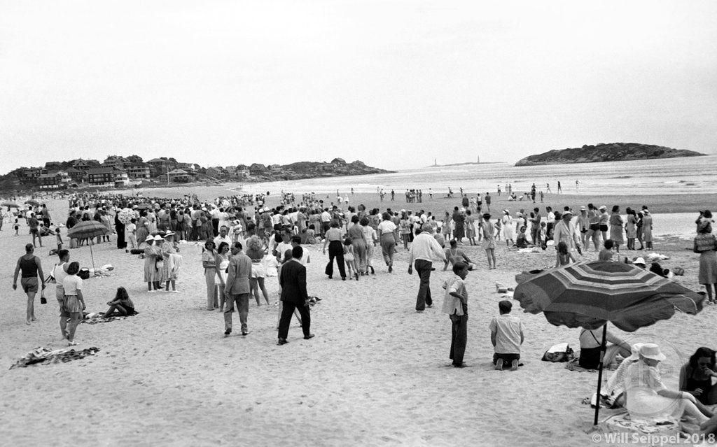 Image result for beach scene 1950s