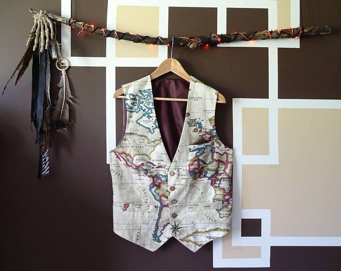 world map waistcoat