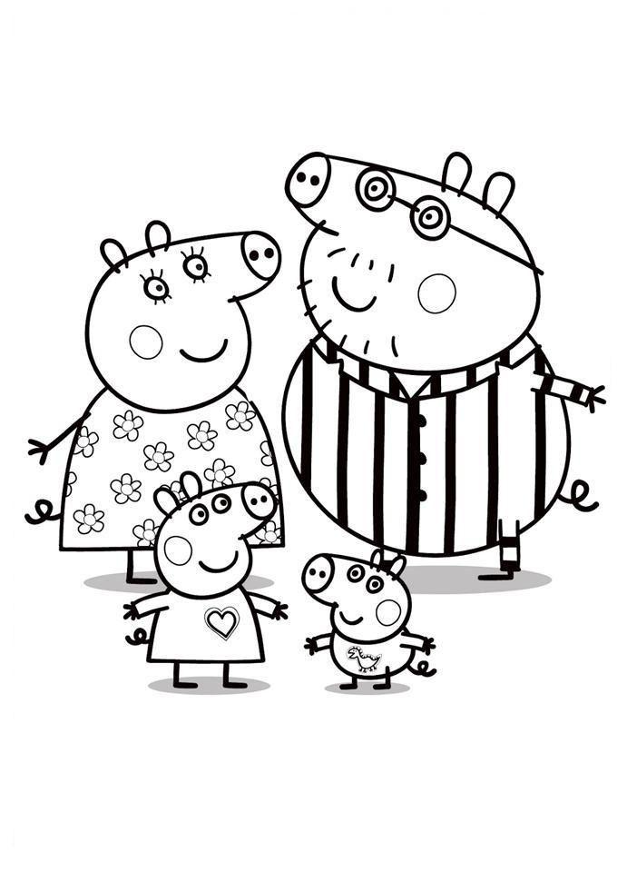 Vários desenhos da Peppa Pig desenhos para imprimir colorir e pintar aqui  no Jogos Online Wx