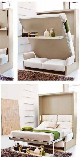 murphy bed genius concept couch under yes this is what i want gee pinterest klappbett. Black Bedroom Furniture Sets. Home Design Ideas