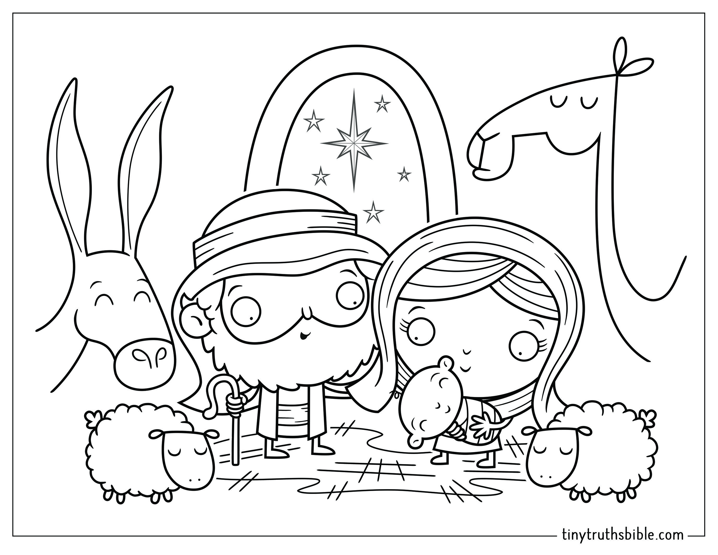 Nativity Scene From The Tiny Truths Illustrated Bible