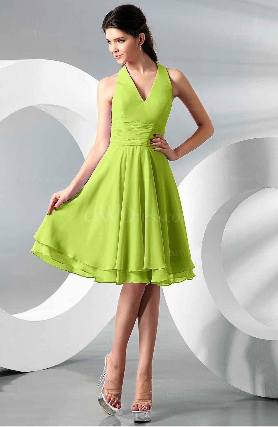 Lime green bridesmaid dresses wedding 3 pinterest chiffon lime green bridesmaid dresses ombrellifo Images