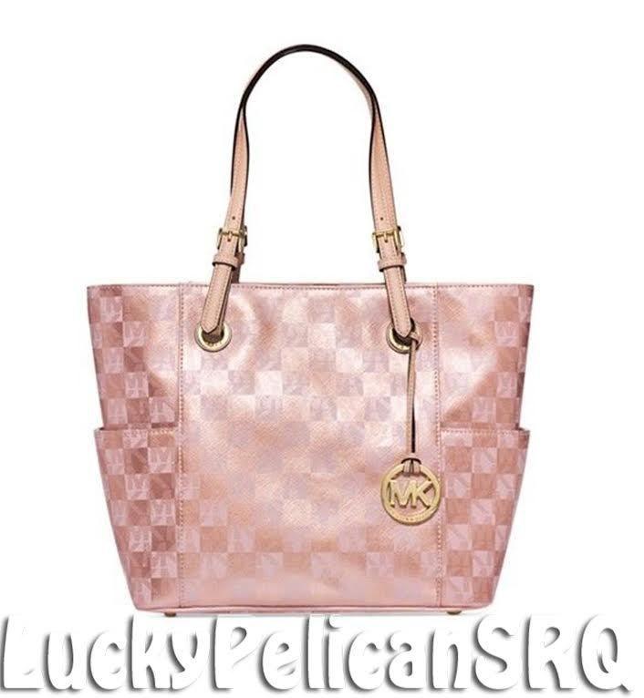 257e13f321fe ... promo code for michael kors jet set item e w mk signature tote bag  handbag rose gold