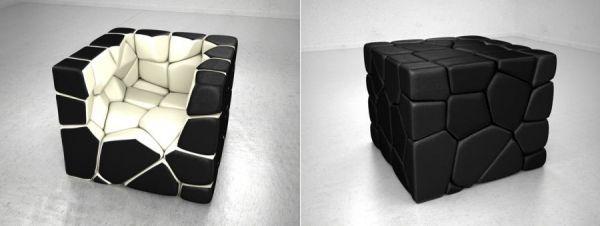 Platzsparende Möbel platzsparende möbel vuzzle cube sessel möbel ideen