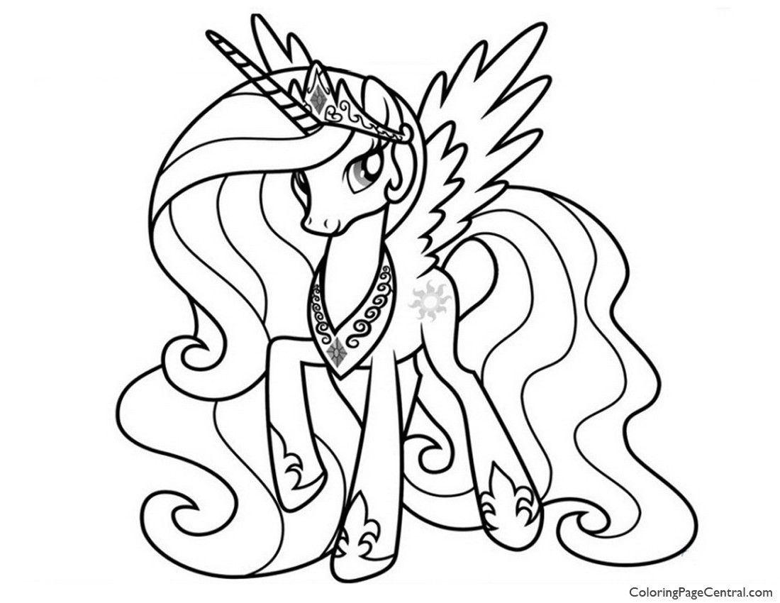 My Little Pony – Princess Celestia 02 Coloring Page ...