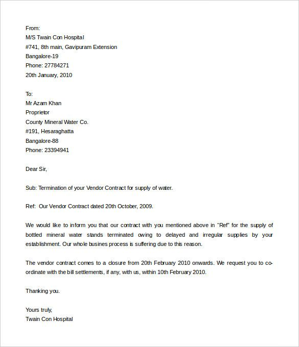 Credit Card Cancellation letter - A Credit card cancellation - termination letter to employee