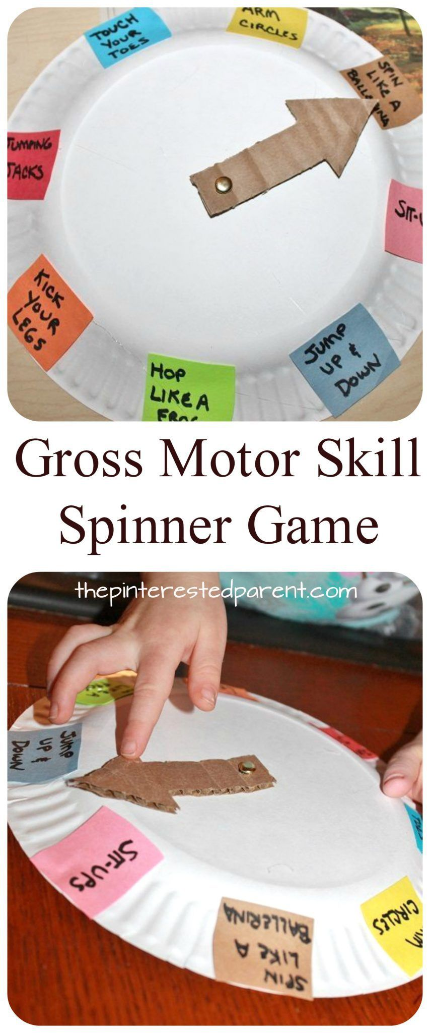 Spin Roll u0026 Count Gross Motor Skill Game - paper plate spinner game for toddlers  sc 1 st  Pinterest & Spin Roll u0026 Count Gross Motor Skill Game - paper plate spinner game ...