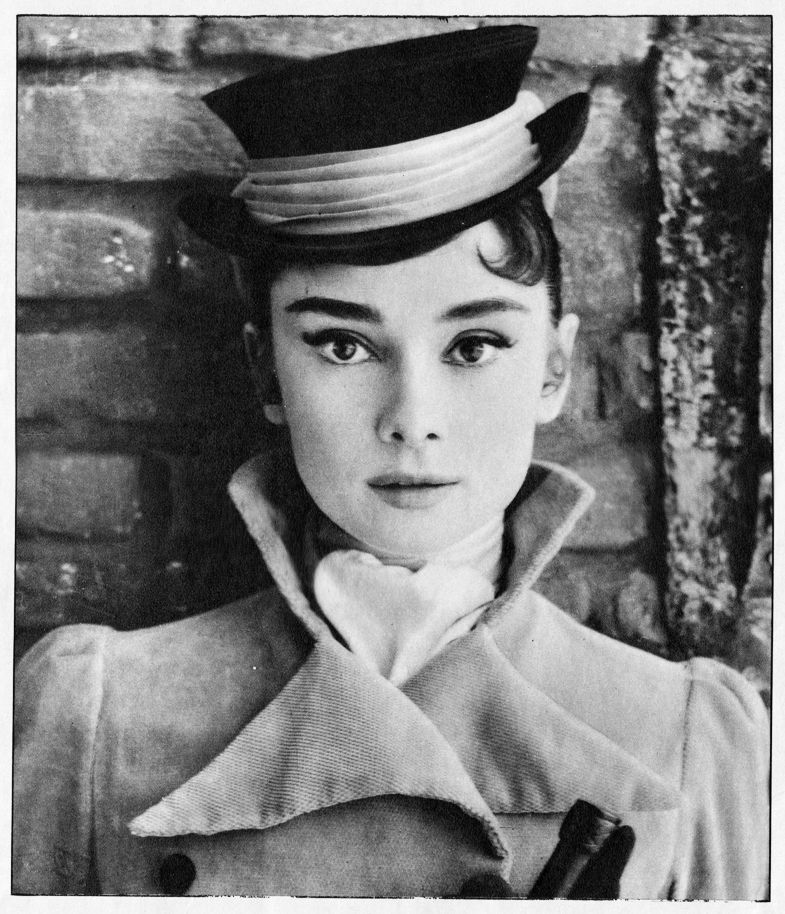 Timeless Audrey! Cinecitta Studios, Rome, Italy, 1955: Audrey is Tolstoy's Natasha Rostova in King Vidor's 1956 adaptation of War and Peace