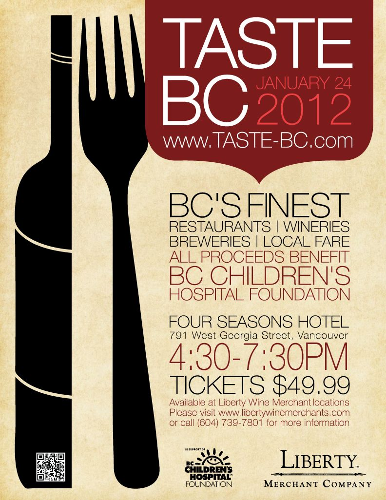 Taste Bc 2012 Poster Lrg Jpeg 792 1026 Wine Tasting Events Wine Tasting Wine Label Maker