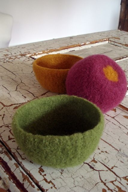 Little Felted Bowls For The Home Pinterest Bowls Felting And