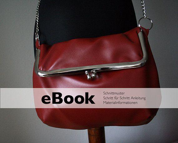 PDF Sewing Pattern  shoulder bag purse frame leather DIY by mrsDIY, $9.00