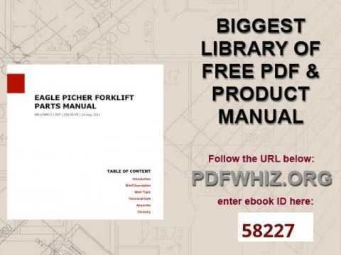 eagle picher forklift parts manual information pinterest rh pinterest com hp officejet 6500a plus instruction manual hp officejet 6500a plus instruction manual