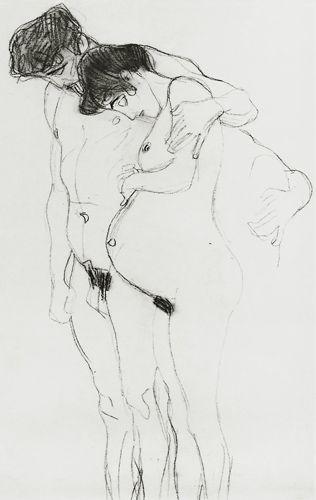 Titre de l'image : Gustav Klimt - Study for 'Hoffnung I' (Hope I) 1903-04