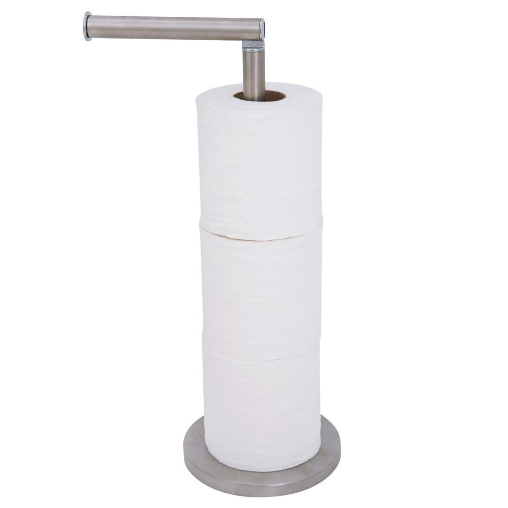 Toilet Paper Holder Tissue Roll Stand Steel Bathroom Toilet Rack Bath Organizer Bathroom Freestanding Bathroom Toilets Toilet Paper Holder