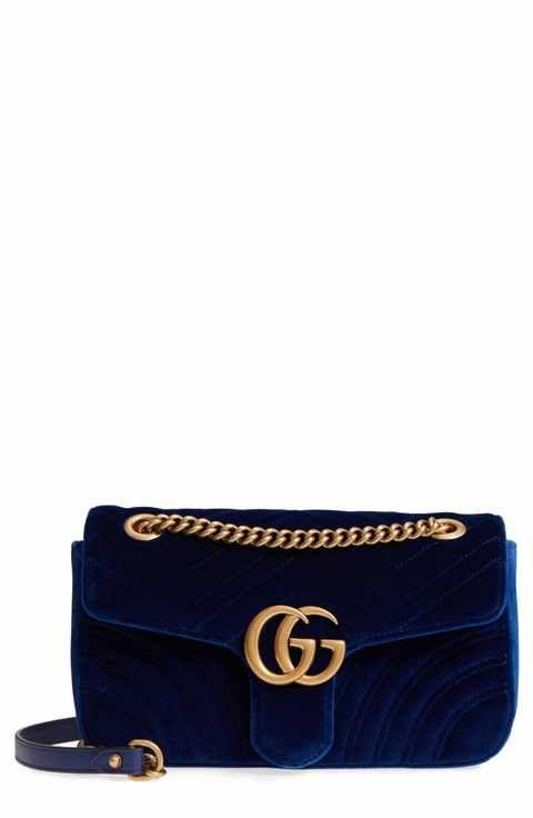 4196ca102f9 Gucci Medium GG Marmont 2.0 Matelassé Velvet Shoulder Bag ...