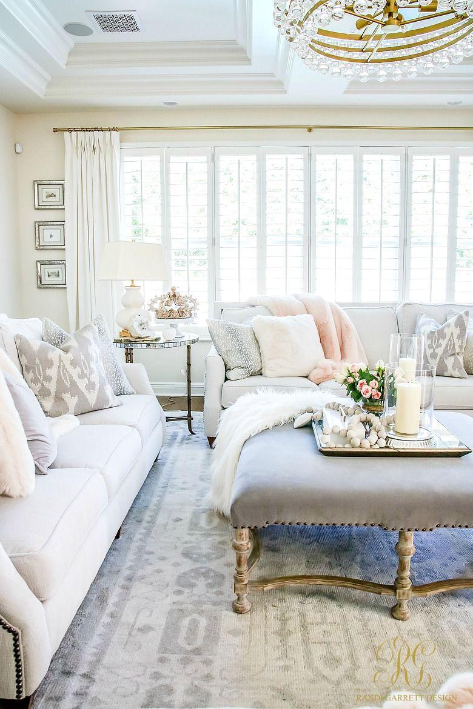 Romantic Valentine S Day Home Tour Styling Tips Randi Garrett Design Family Room Design Simple Living Room Living Room Interior