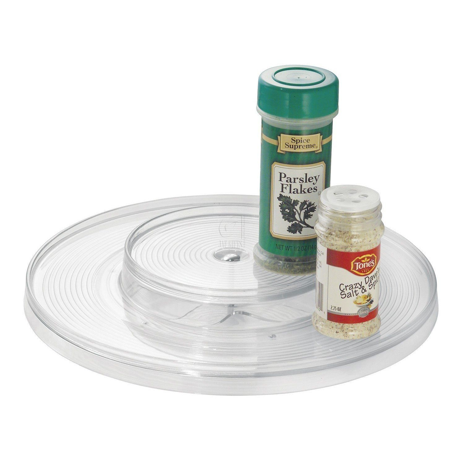 dp kitchen regular organizer mdesign spice lazy susan turntable metrodecor com clear amazon
