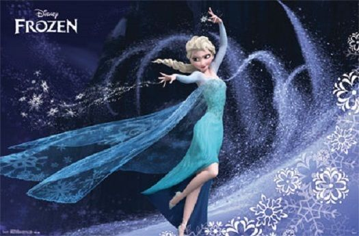 Disney Frozen Movie Elsa Poster Print 34X22 Free Shipping