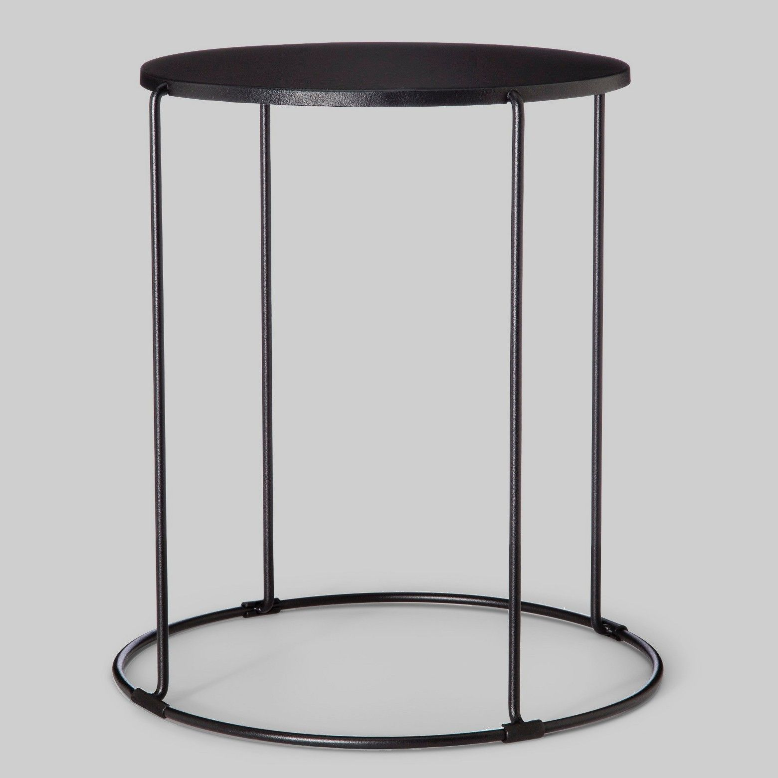 Patio Accent Table Round Black Project 62