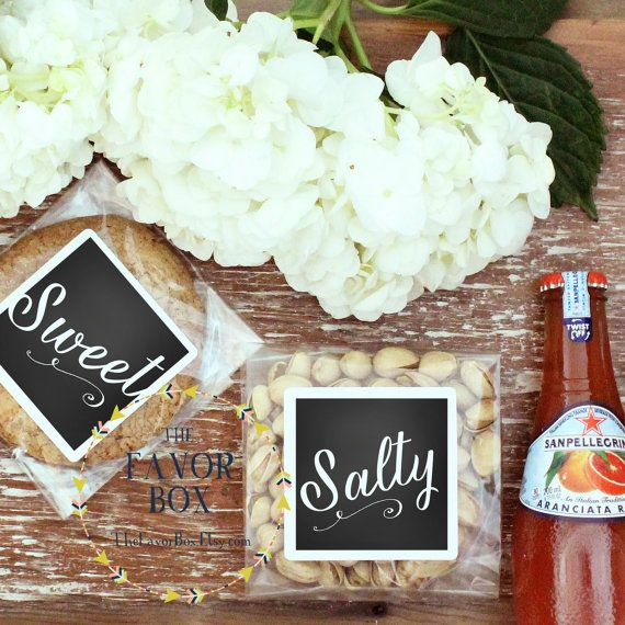 12 Wedding Welcome Bag Snack Labels Box His Favorite And Her Any Colors By Thefavorbox On