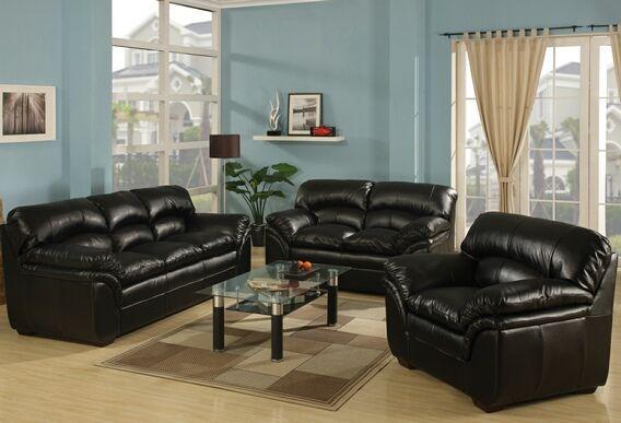 A m b furniture design living room furniture - Overstuffed leather sofa living room ...