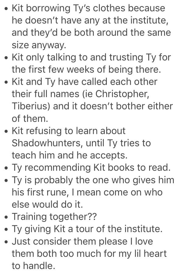 Ty and Kit, I didn't even read the book yet and already love them both