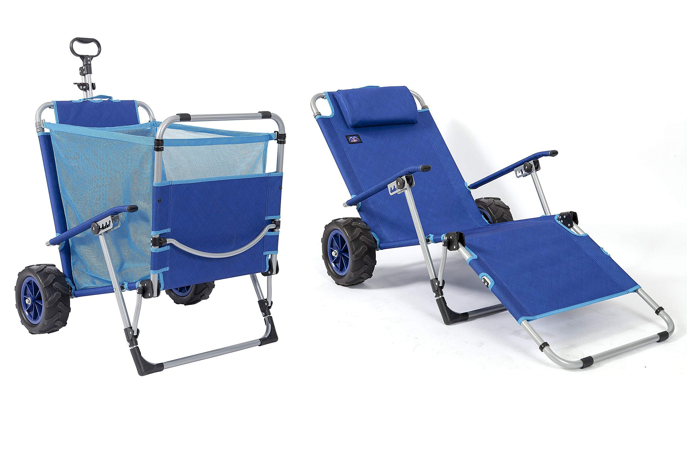This Comfy Beach Chair Doubles As A Wagon And Will Save Your Back This Summer Beach Cart Beach Chairs Best Beach Chair