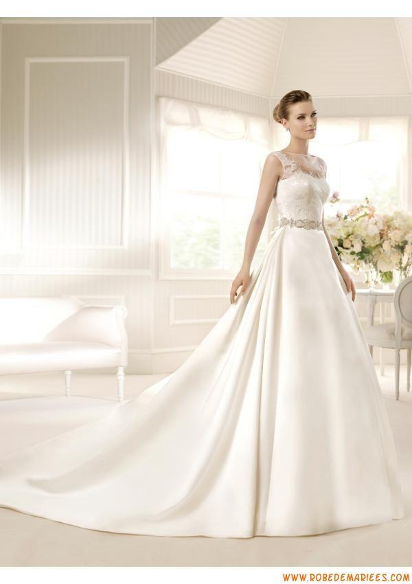 Robe de mariage princesse satin dentelle