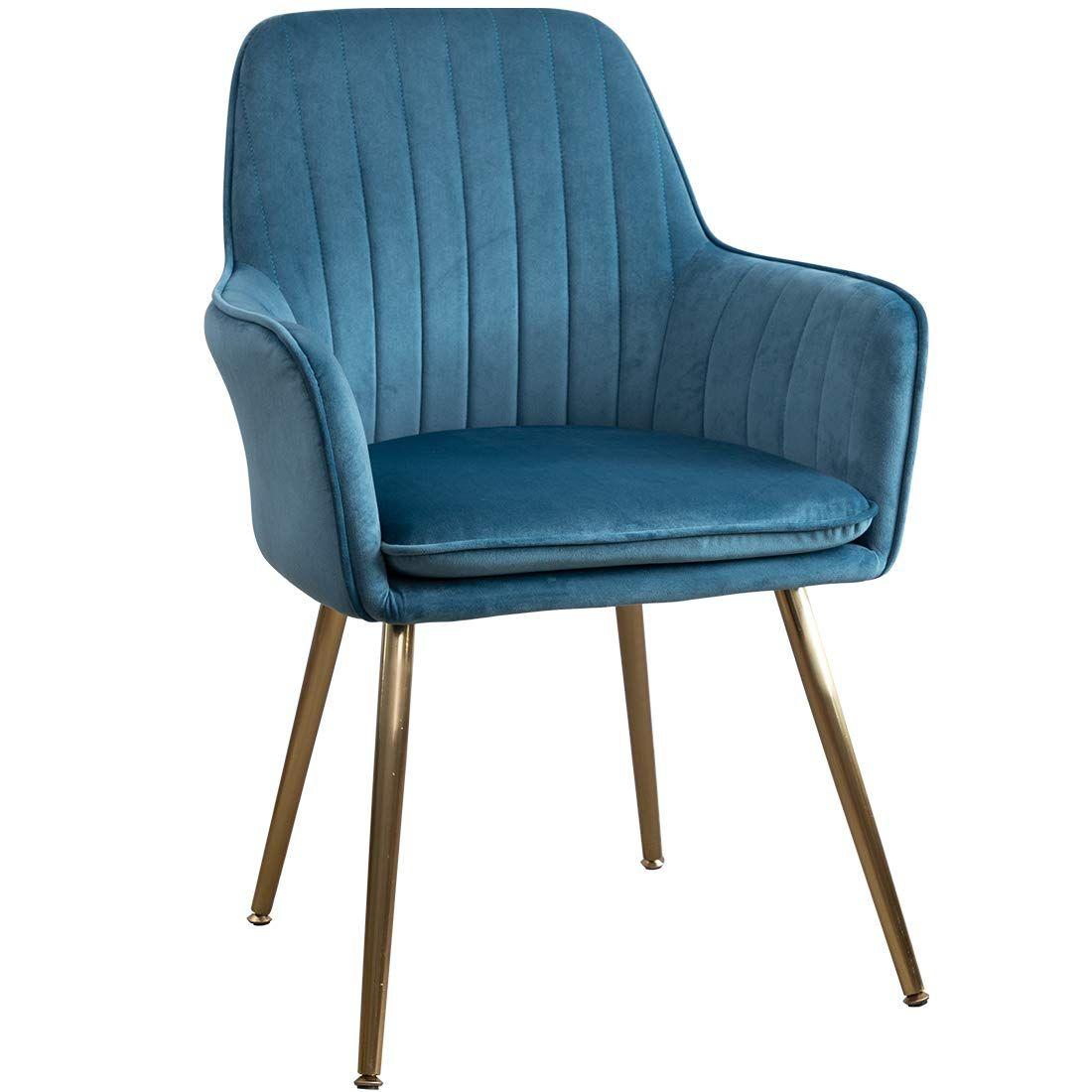 GOLDEN BEACH Set of 1 Elegant Velvet Dinning Chair Mid ...