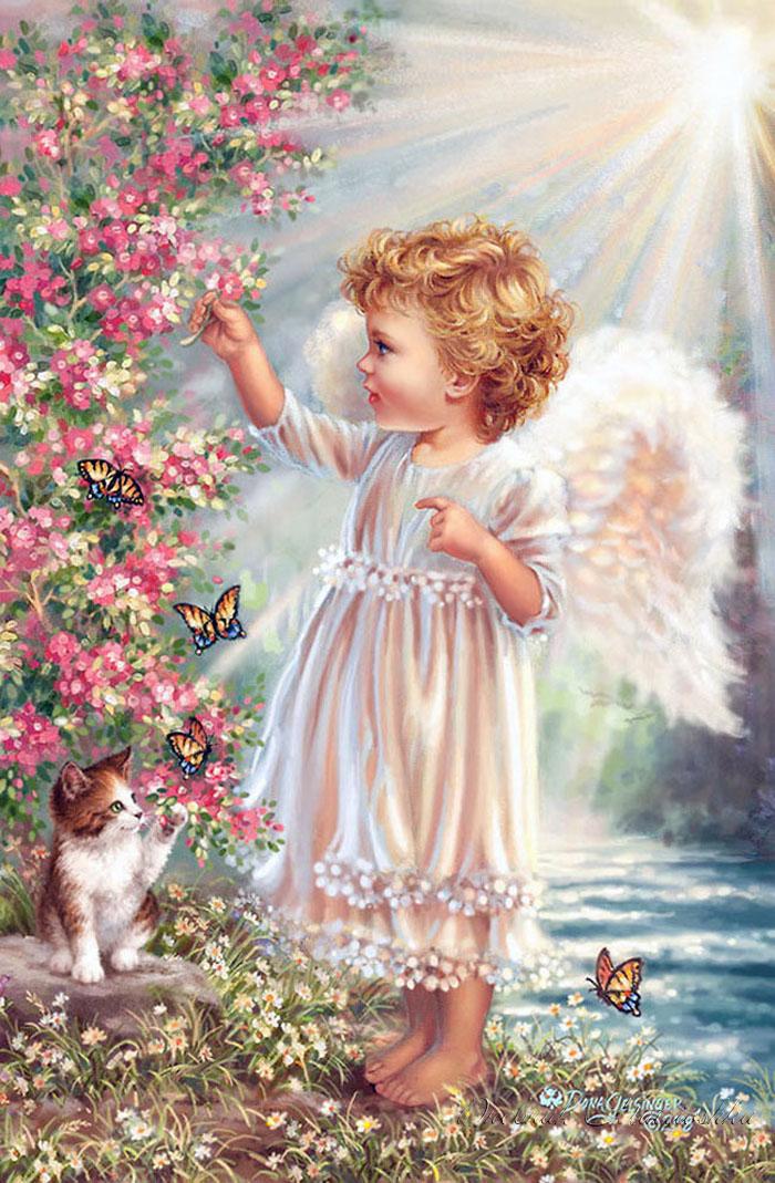 Открытка с ангелом ребенка, водителя картинка поздравление