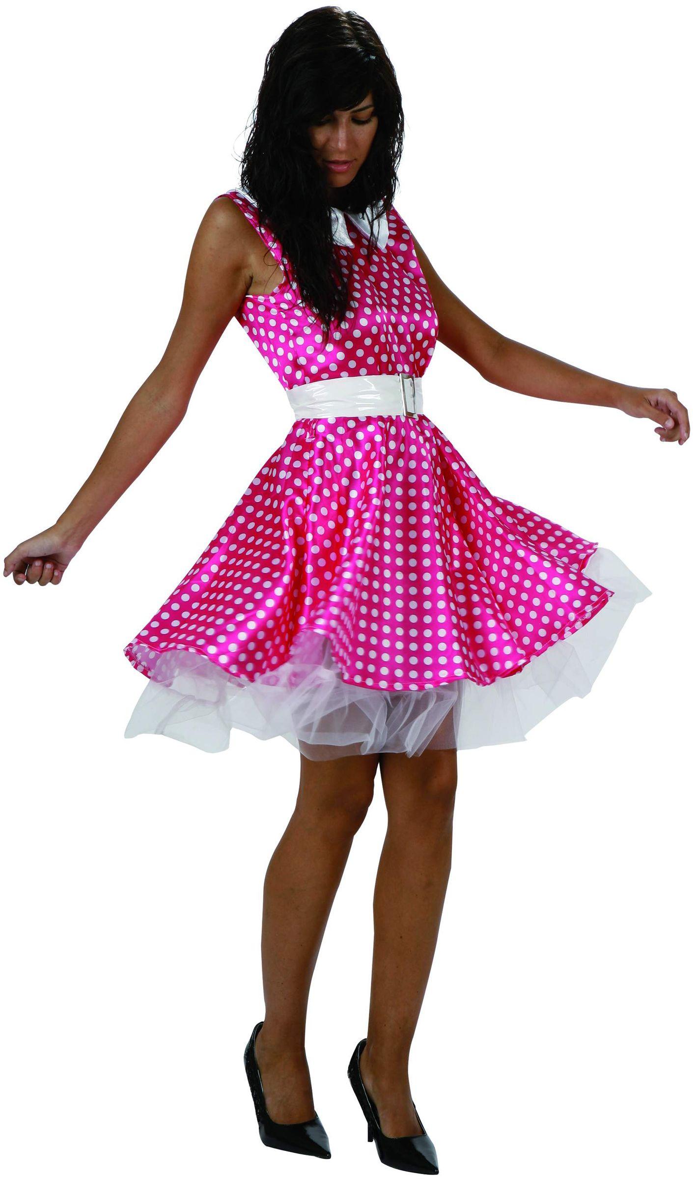 Disfraz rosa de los años 50 para mujer: Este disfraz rosa de los ...
