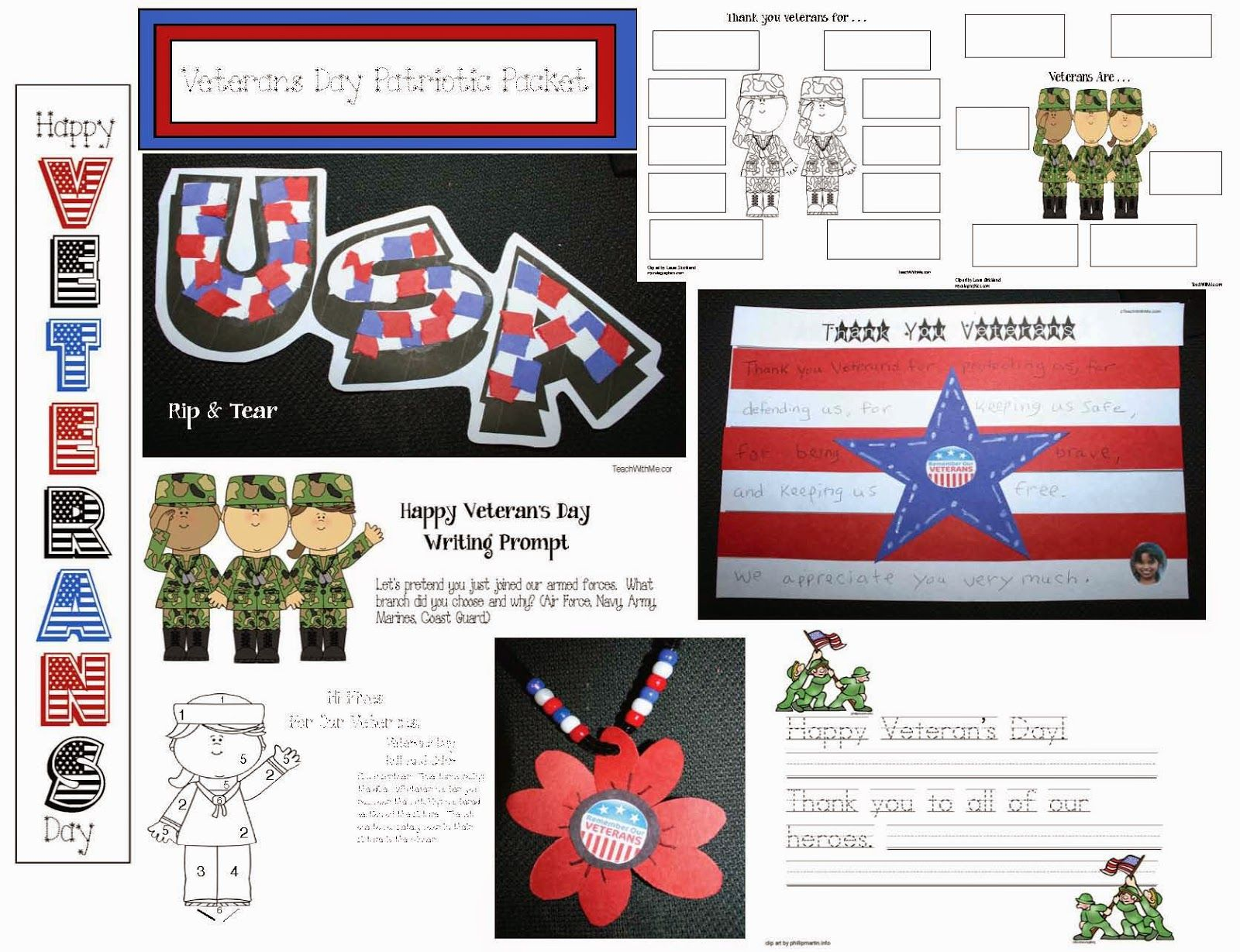 Veteran S Day Craftivities Packet