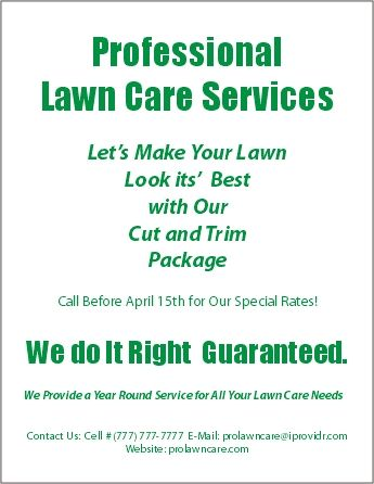 lawn care flyers landscape lawn care lawn care business lawn