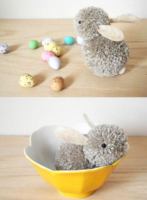 DIY Cute Pom Pom Easter Bunny Tutorial – Video