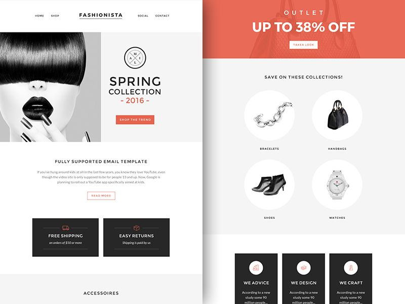 Fashionista Newsletter Template  Free Sketch App Resources