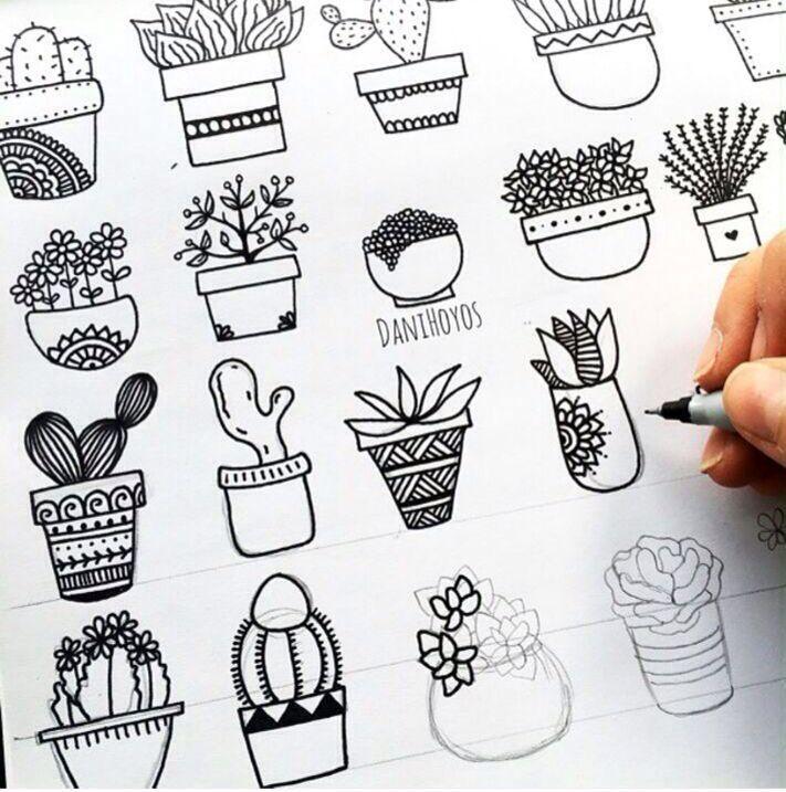 Diseno De Plantas Dibujos Garabateados Clases De Dibujo Produccion Artistica