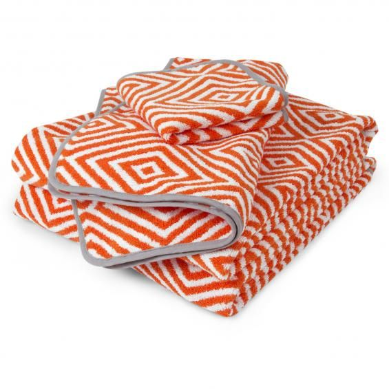 Orange White Arcade Bath Towel Jonathan Adler Dizajn
