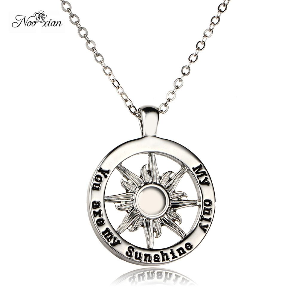 Nooxian sun pendant necklace couple necklace jewelry letter you are