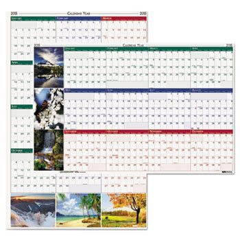 Earthscapes Nature Scene Reversible/erasable Yearly Wall Calendar, 18 X 24, 2016