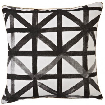 Bonnie + Neil Linen Geometric Black + White Pillow  Visit Centophobe.com for more decrating ideas...
