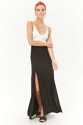 c9e0ecfea2 M-Slit Maxi Skirt // love the M-Slit skirts, especially with crops, halters  and tanks, love the bandana wrap too <3