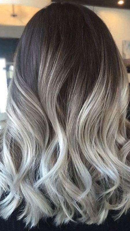 Balayage gris sur blonde - Balayage gris sur brune ...
