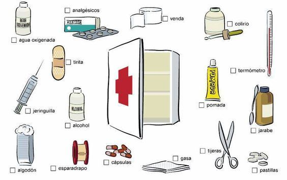 Botiquin De Primeros Auxilios Paramedico Maletin Kit Basico Familiar 11 Aprender Espanol Vocabulario Espanol Vocabulario Medico