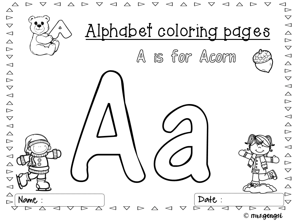 Alphabet Coloring Pages Winter Edition Alphabet Coloring Pages Kindergarten Lessons Kindergarten Resources