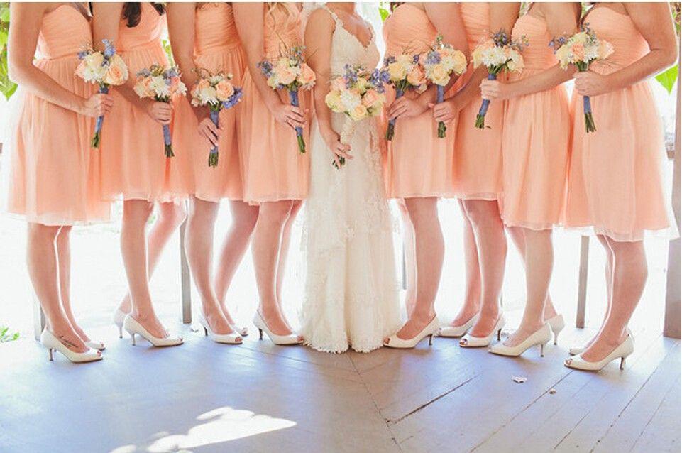 Image Result For Light Orange Bridal Party Wedding Peach