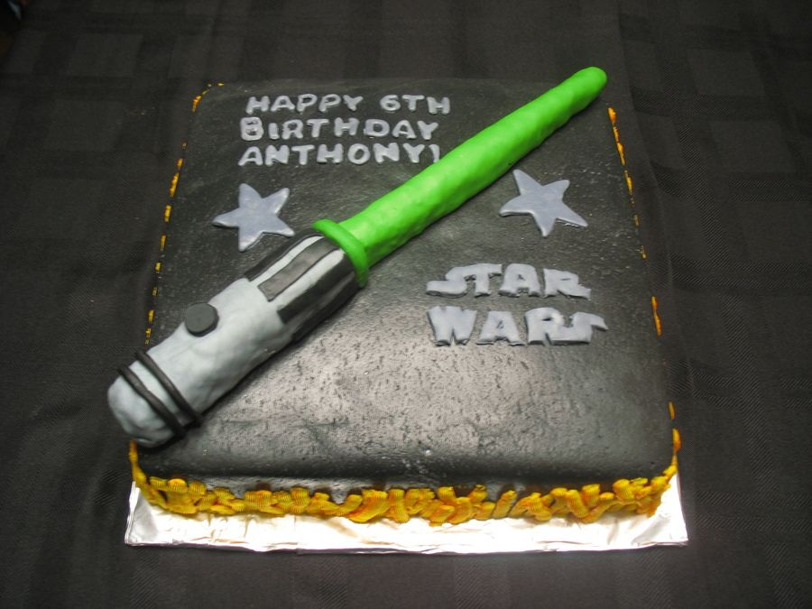Incredible Star Wars Lightsaber With Images 7Th Birthday Cakes Star Wars Funny Birthday Cards Online Sheoxdamsfinfo